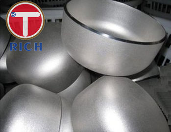 China Customized Stainless Steel Pipe Caps High Precision With 21.3 - 610mm OD supplier