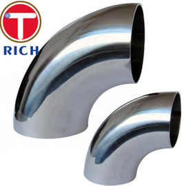 China 90 Degree  LR Elbow Tube Machining ASME B16.9 316L 304L Seamless Stainless Steel supplier