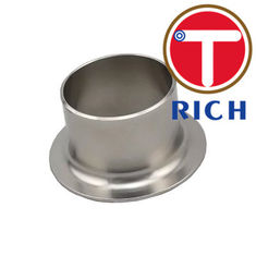 China 304 316l Stainless Steel Pipe Fitting Tube End Silver Color With Polishing Surface supplier