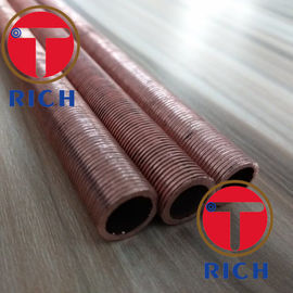 China UNS12200 Spiral Brass Finned Tube Heat Exchanger / Red Finned Copper Tubing supplier