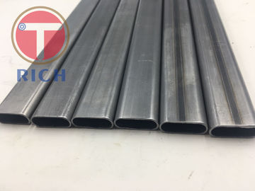 China Q235 25*10*1mm Welded Flat Oval Steel Tubing For Lightweight Workout Equipment supplier