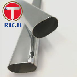 China Decorative Handrail Flat Oval Tube / Welded Oval Stainless Steel Tubing supplier