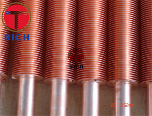 China Longitudinal Heat Exchanger Coil Aluminium Copper Fin Tube Extruded Embedded Type supplier