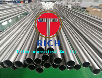 China Heat Exchanger Seamless Titanium Tubing ASTM B338 Gr2 Material 0.3 - 5mm Wall Thickness supplier
