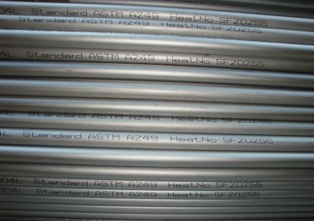BA tubes Welded Bright Annealed Stainless Steel Tube Pipe ASTM A249 EN10217-7