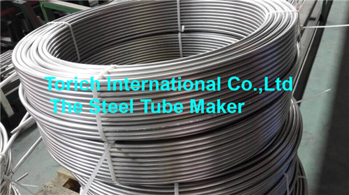 ASTM A213, ASTM A269,EN10216-5 Seamless SS Pipe Stainless Coiled Tubing For Heater Tubing Line