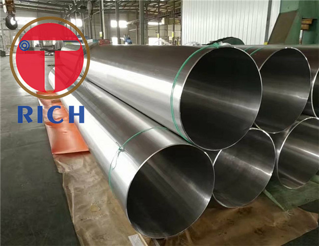 GB/T24593 12Cr18Ni9 06Cr18Ni11Ti 304 / 316Welded Stainless Steel Tube OD 3-500mm