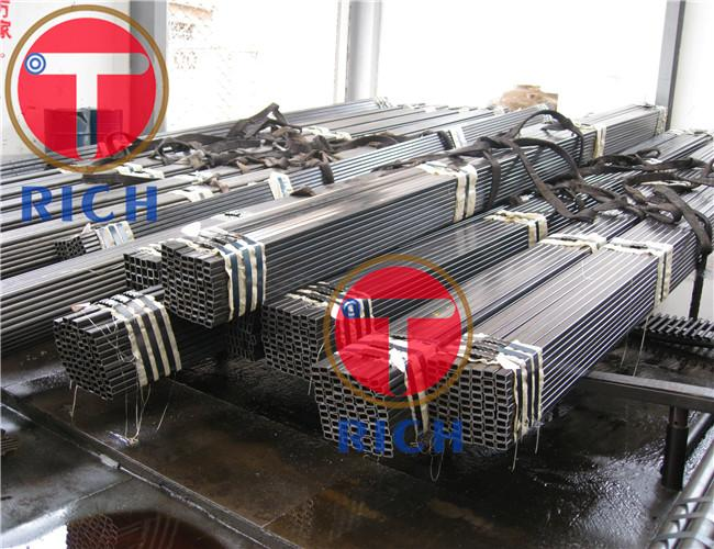 Square / Rectangular Precision Steel Pipe With Galvanized Coated Astm A106