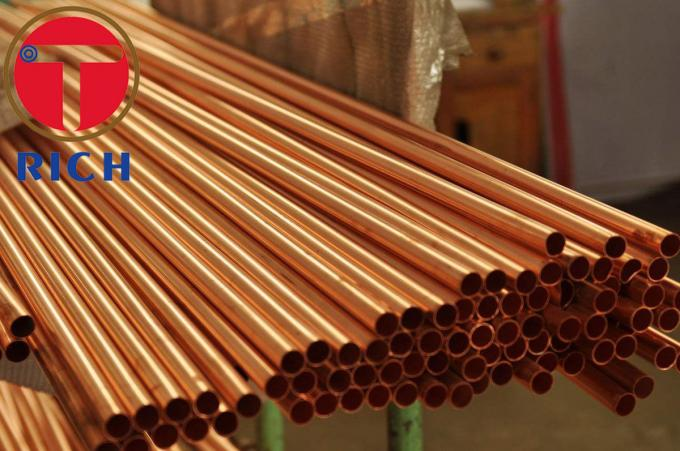 Precision Seamless Steel Tube , Water Gas Capillary Straight Copper Pipe