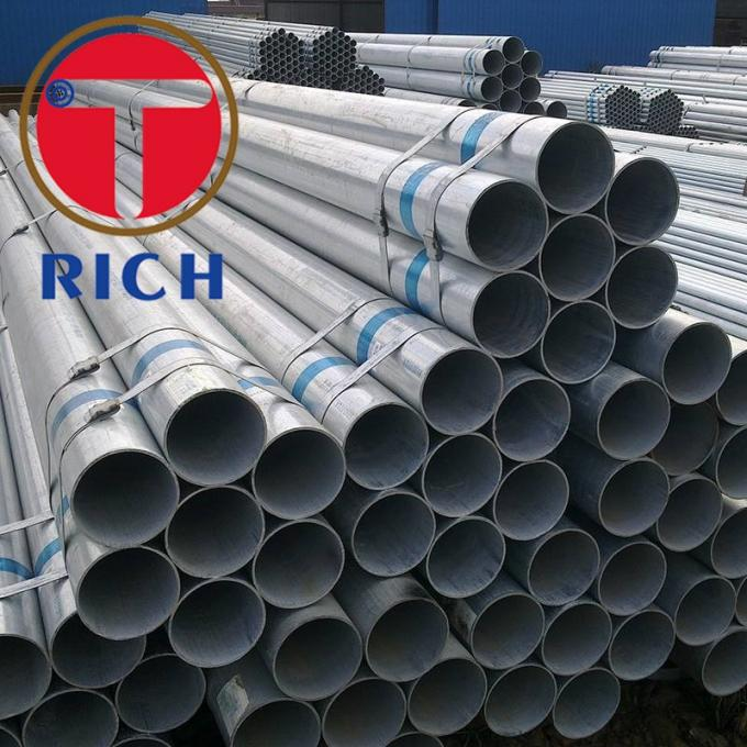 BS 1387 Q195 GI SS400 Welded Steel Tube Round Shape Galvanised Steel Tube