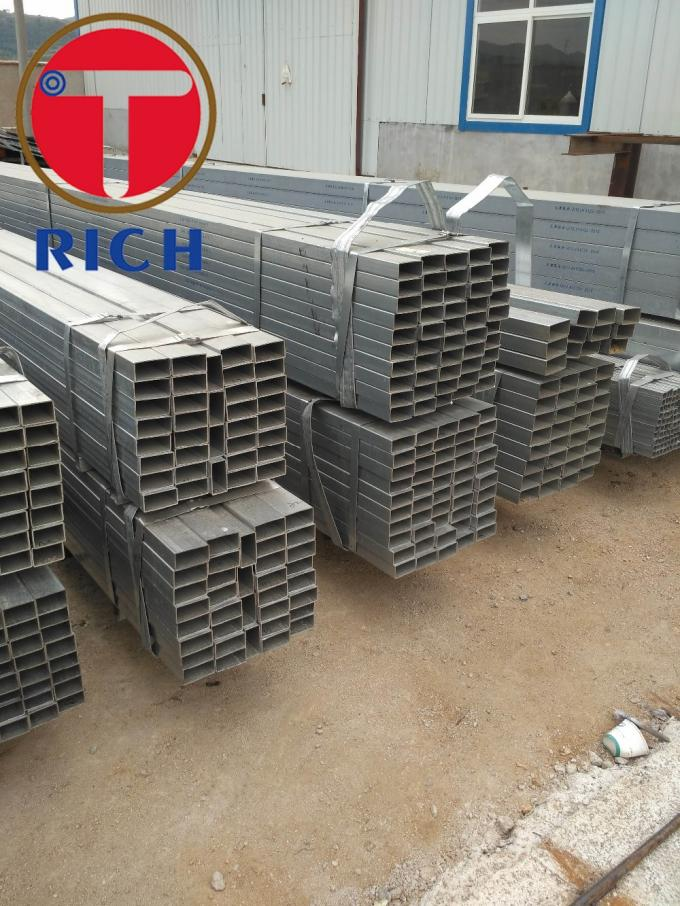 ASTM A213 A106 A53 Galvanized Square Rectangular Steel Pipe GI Steel Tube for Fluid Pipe
