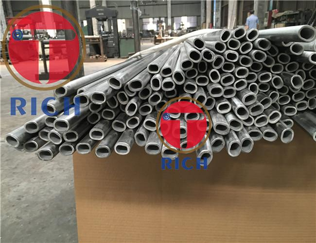 Stainless Steel Flat Elliptical Steel Tubing / Thick Wall Welded Oval Steel Tubing