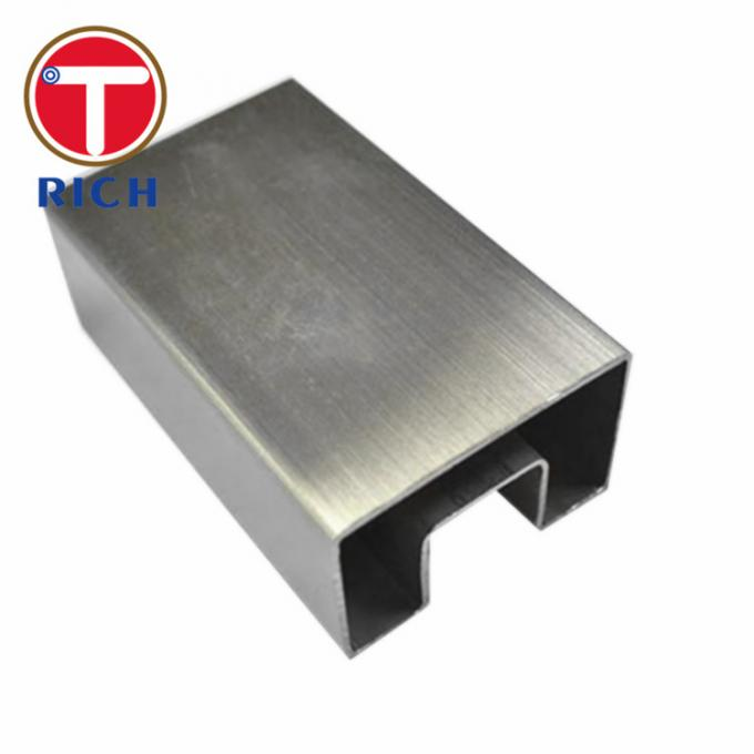 Industrial Rectangular Steel Tubing 304 316 321 Polishing Hairline 0.3 - 2.0mm Thickness