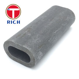 China Non Alloy Oval Special Steel Pipe Custom Flat Sided Cold Rolled Steel Tube factory