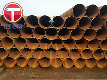 China Submerged Arc Welding Steel Tubing Double Spiral Din30670 Round Shape For Gas factory