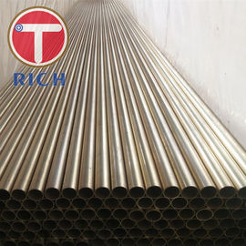 China Seamless Copper Alloy Tube ASTM B111 C70400 C70600 For Condenser Tubes distributor