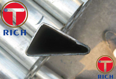China Galvanized Triangular Seamless Steel Tubes / Special Section Pipe For Construction factory
