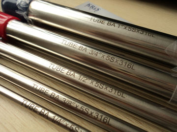 China 20mm Bright Annealed Stainless Steel Tubing ASTM A269 TP304/304L , TP316/316L distributor