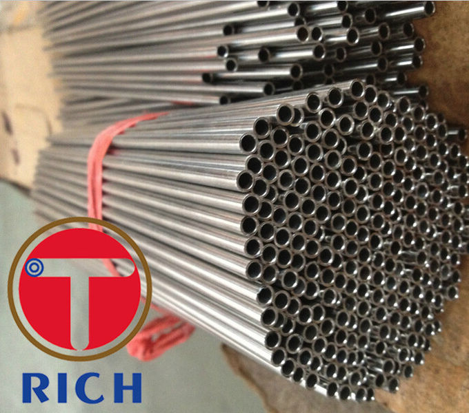 ASTM A246 Welded 6mm Stainless Steel Tube , Round Capillary Coiled Tubing